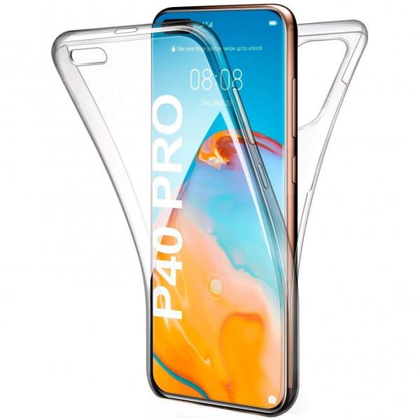 Husa Huawei P40 Pro Full TPU 360 (fata + spate), Transparent 0