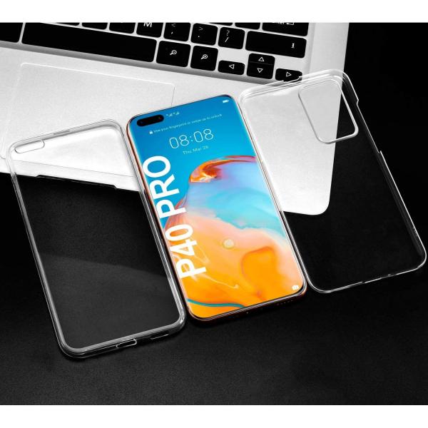 Husa Huawei P40 Pro Full TPU 360 (fata + spate), Transparent 3