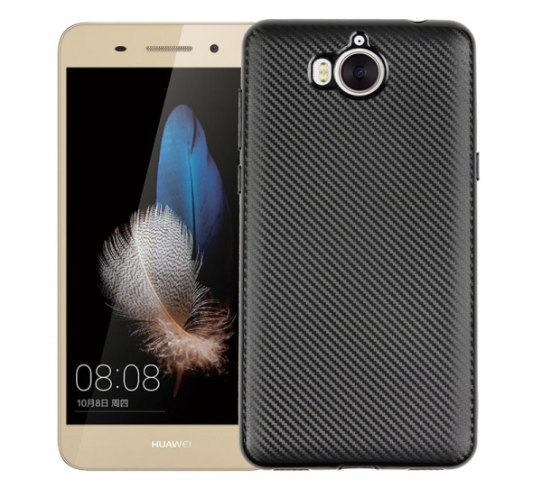 Husa Huawei Y6 2017 i-Zore Carbon, Negru 0