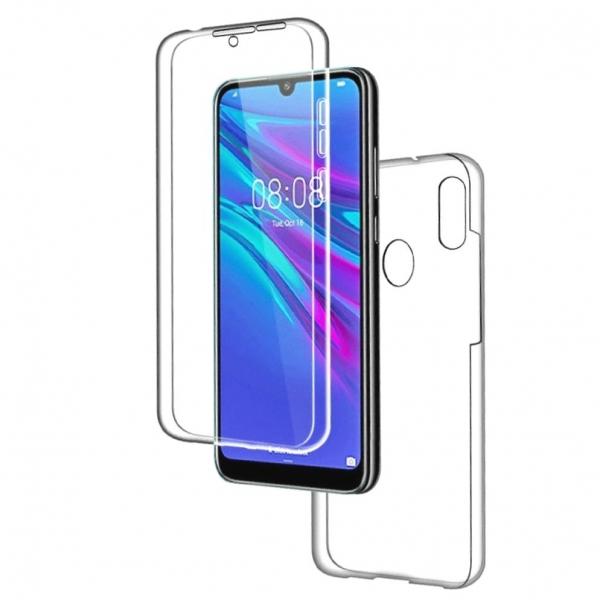 Husa Huawei Y6 2019 Full TPU 360 (fata + spate), Transparent 0