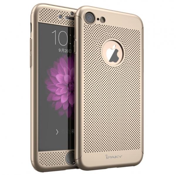 Husa iPaky 360 Air + folie sticla iPhone 7, Gold [0]