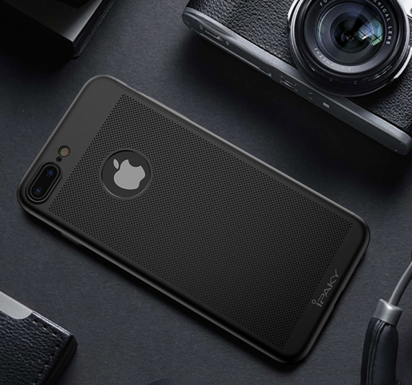 Husa iPaky 360 Air + folie sticla iPhone 7 Plus, Negru 2