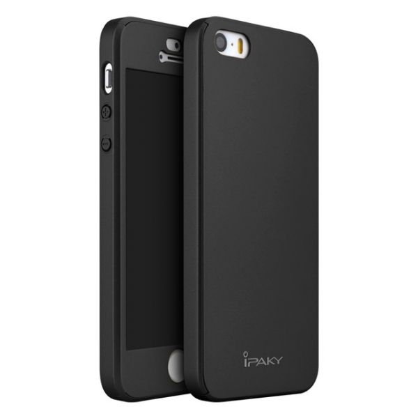 Husa iPaky 360 + folie sticla iPhone 5 / 5S / SE, Black 3