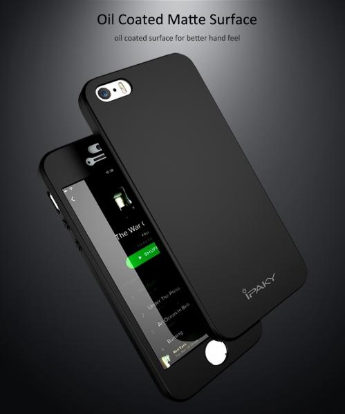 Husa iPaky 360 + folie sticla iPhone 5 / 5S / SE, Black 1