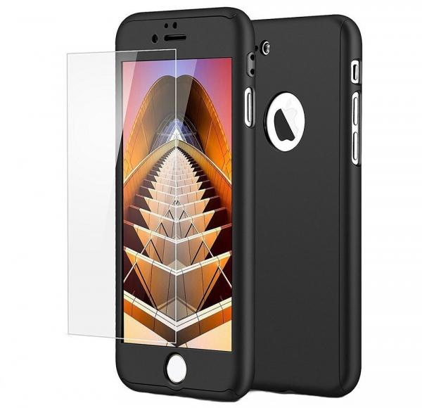 Husa iPaky 360 + folie sticla iPhone 6 Plus / 6S Plus, Negru [0]