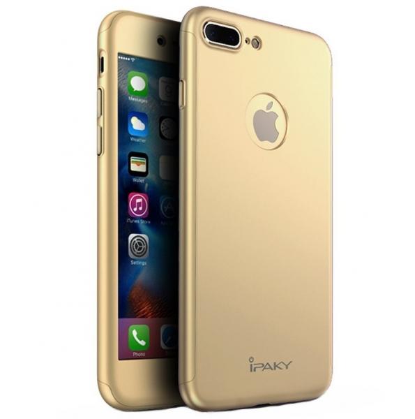 Husa iPaky 360 + folie sticla iPhone 7 Plus, Gold 0