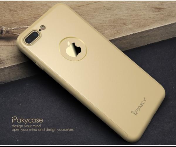 Husa iPaky 360 + folie sticla iPhone 7 Plus, Gold 1