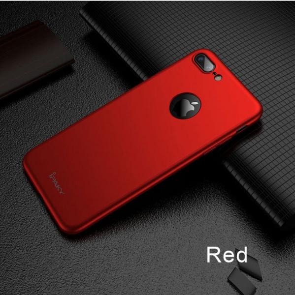 Husa iPaky 360 + folie sticla iPhone 7 Plus, Red 1