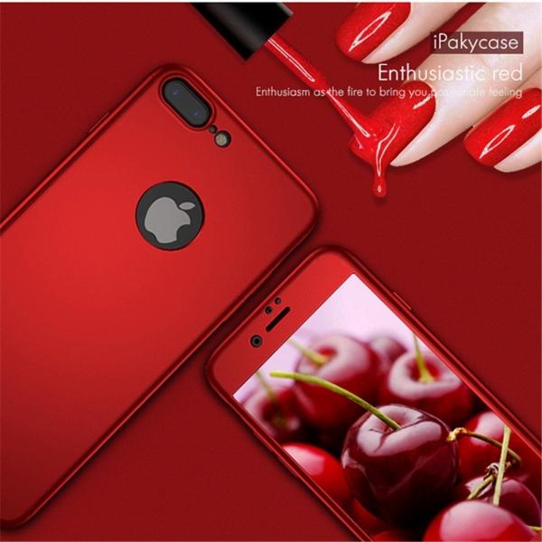 Husa iPaky 360 + folie sticla iPhone 7 Plus, Red 2