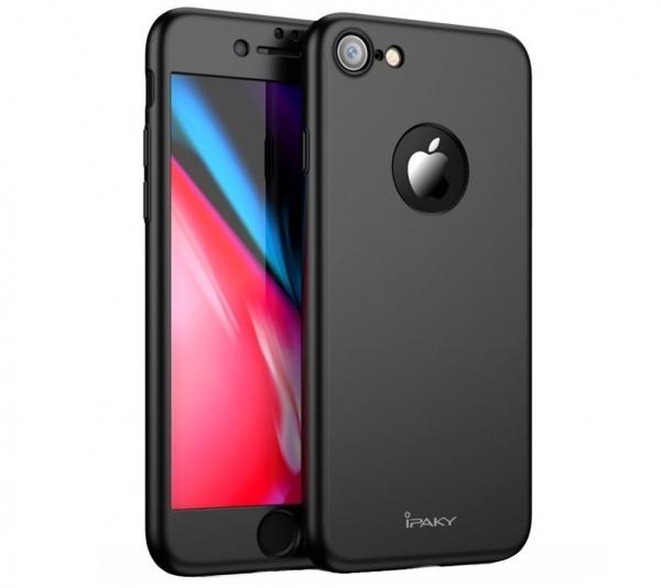 Husa iPaky 360 + folie sticla iPhone 8, Black [0]