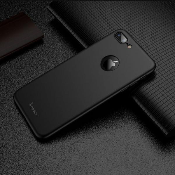 Husa iPaky 360 + folie sticla iPhone 8 Plus, Black [2]