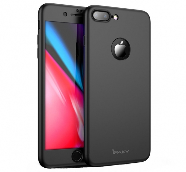 Husa iPaky 360 + folie sticla iPhone 8 Plus, Black [0]