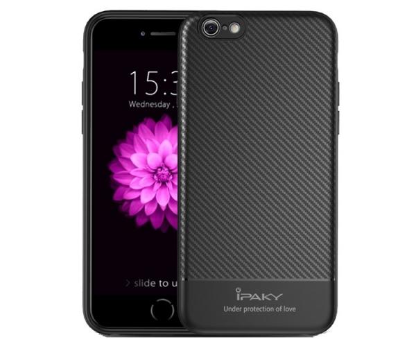 Husa iPaky Carbon Fiber iPhone 7, Negru [0]
