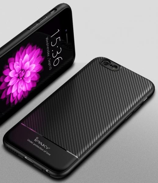 Husa iPaky Carbon Fiber iPhone 7, Negru [2]