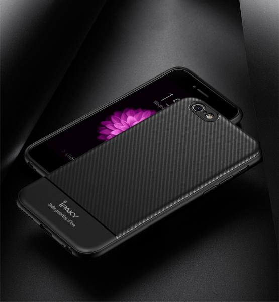 Husa iPaky Carbon Fiber iPhone 8, Negru 1
