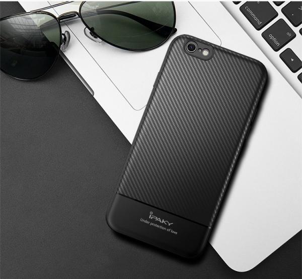Husa iPaky Carbon Fiber iPhone 8, Negru 3