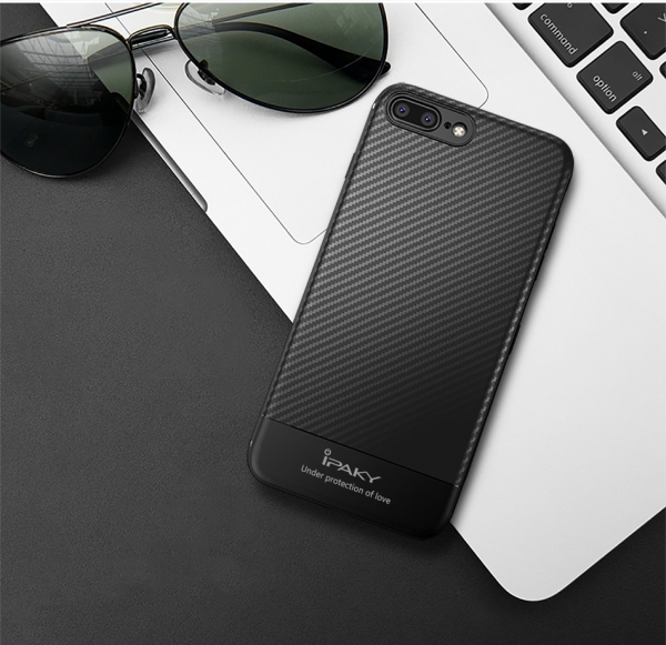 Husa iPaky Carbon Fiber iPhone 8 Plus, Negru [1]