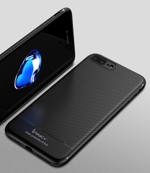 Husa iPaky Carbon Fiber iPhone 8 Plus, Negru [2]