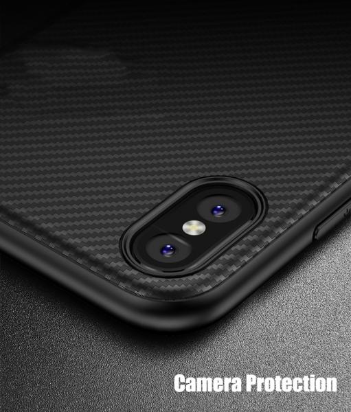 Husa iPaky Carbon Fiber iPhone X, Negru 3
