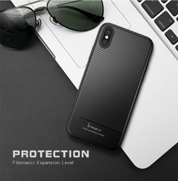 Husa iPaky Carbon Fiber iPhone X, Negru 1