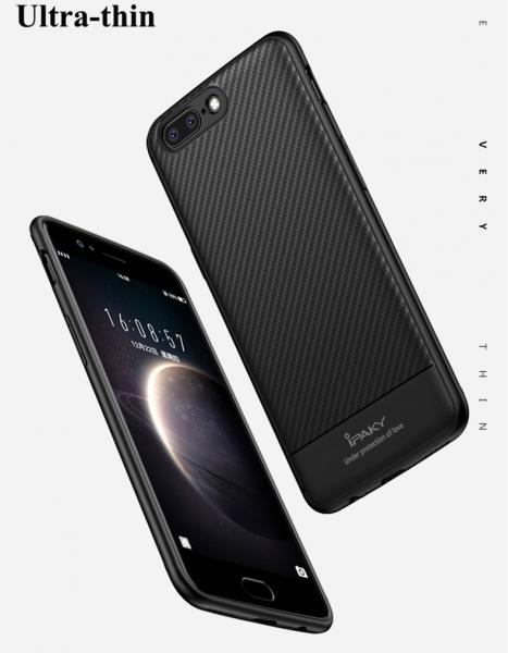 Husa iPaky Carbon Fiber OnePlus 5, Negru 3