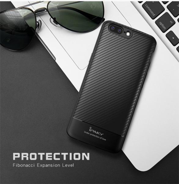 Husa iPaky Carbon Fiber OnePlus 5, Negru 1