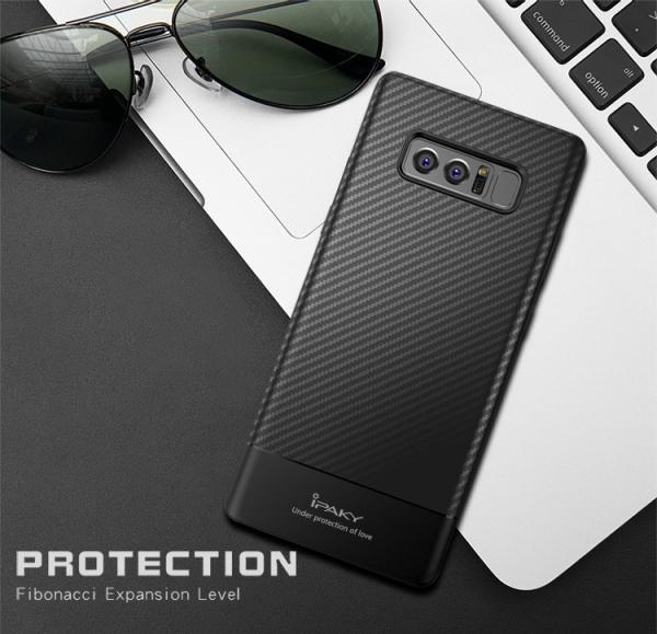 Husa iPaky Carbon Fiber Samsung Galaxy Note 8, Negru 1