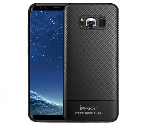 Husa iPaky Carbon Fiber Samsung Galaxy S8, Negru 0