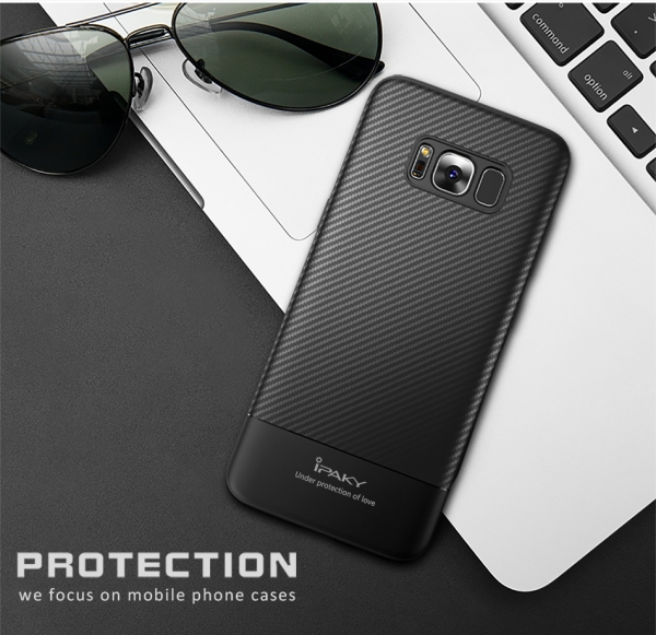 Husa iPaky Carbon Fiber Samsung Galaxy S8, Negru 1