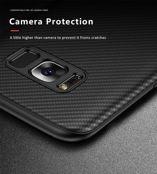 Husa iPaky Carbon Fiber Samsung Galaxy S8, Negru 3