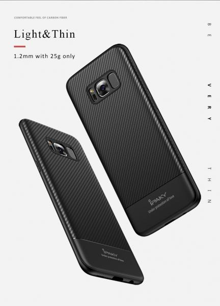 Husa iPaky Carbon Fiber Samsung Galaxy S8, Negru 2