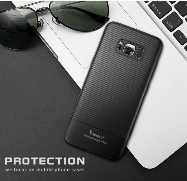 Husa iPaky Carbon Fiber Samsung Galaxy S8 Plus, Negru 1