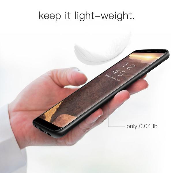 Husa iPaky Slim pentru Samsung Galaxy S9, Negru 4