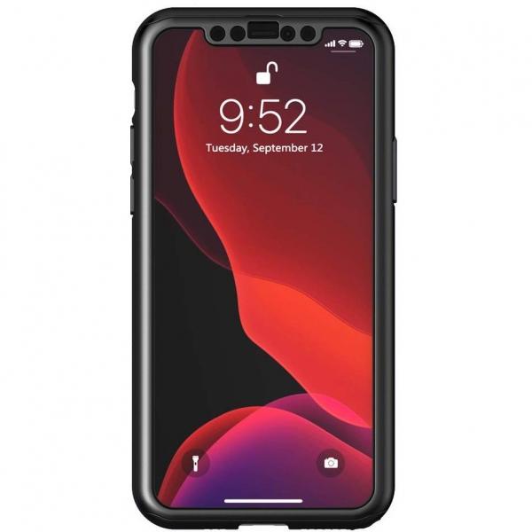 Husa iPhone 11 Full Cover 360 + folie sticla, Negru 2