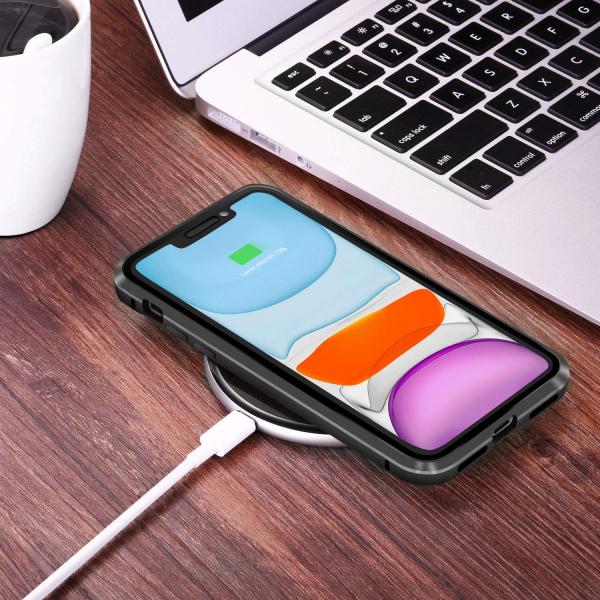 Husa iPhone 11 Magnetic Glass 360 (sticla fata + spate), Negru 3