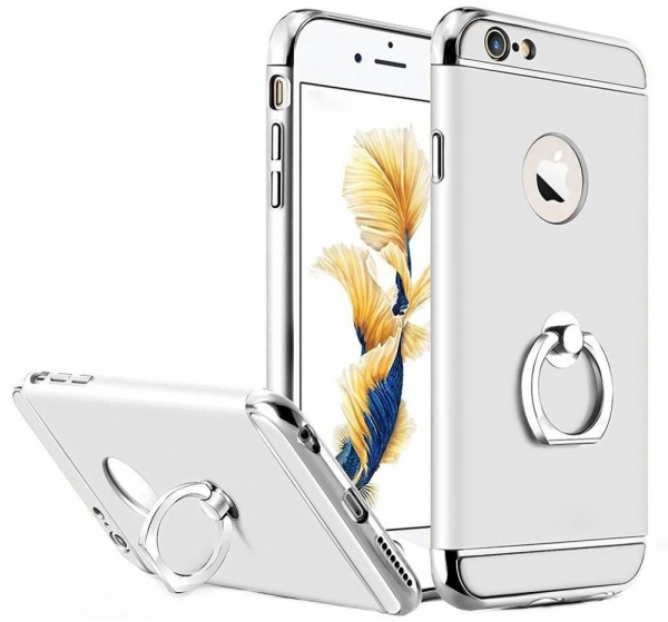 Husa iPhone 6 / 6S Joyroom LingPai Ring, Silver 0