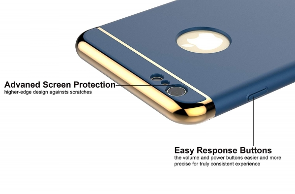 Husa iPhone 6 / 6S Joyroom LingPai Series, Albastru 2