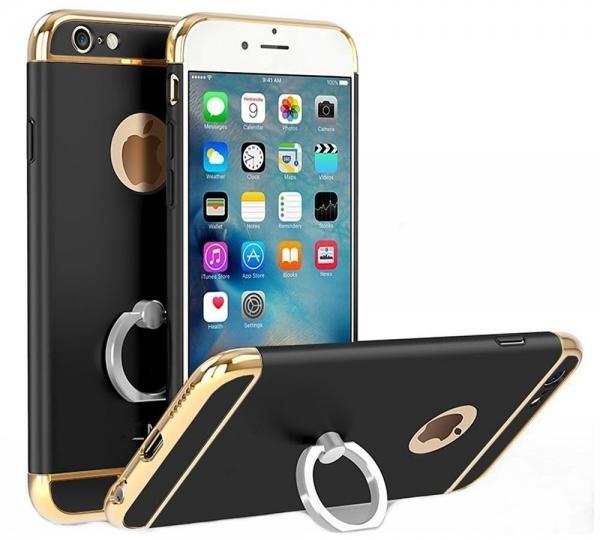 Husa iPhone 6 Plus / 6S Plus Joyroom LingPai Ring, Black 0