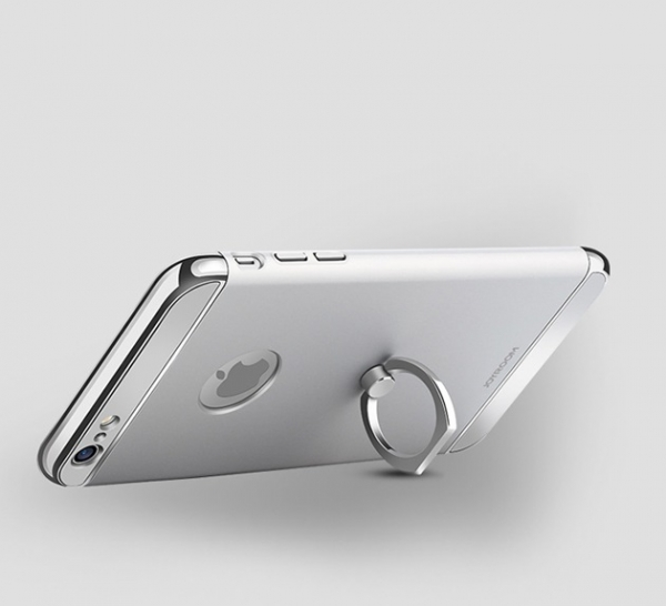 Husa iPhone 6 Plus / 6S Plus Joyroom LingPai Ring, Silver 1