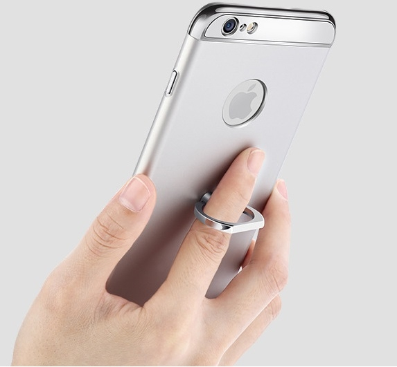 Husa iPhone 6 Plus / 6S Plus Joyroom LingPai Ring, Silver 2