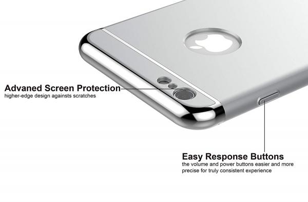 Husa iPhone 6 Plus / 6S Plus Joyroom LingPai Series, Silver 2