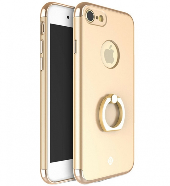 Husa iPhone 7 Joyroom LingPai Ring, Gold 0