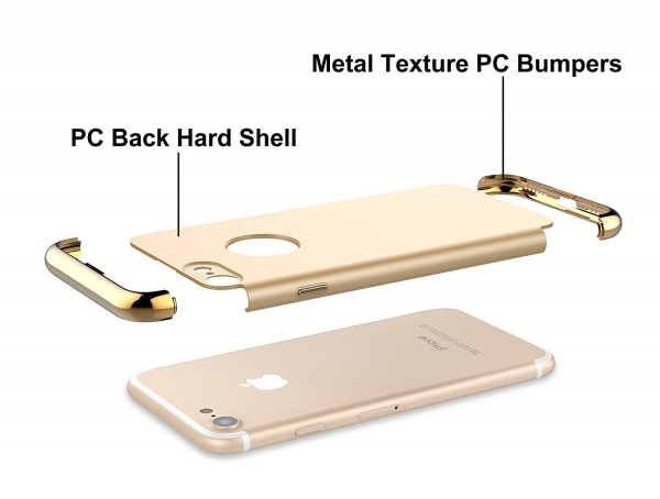 Husa iPhone 7 Joyroom LingPai Series, Gold 3