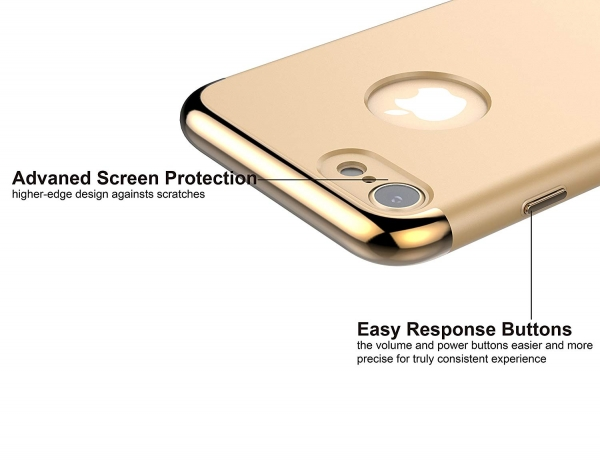 Husa iPhone 7 Joyroom LingPai Series, Gold 2