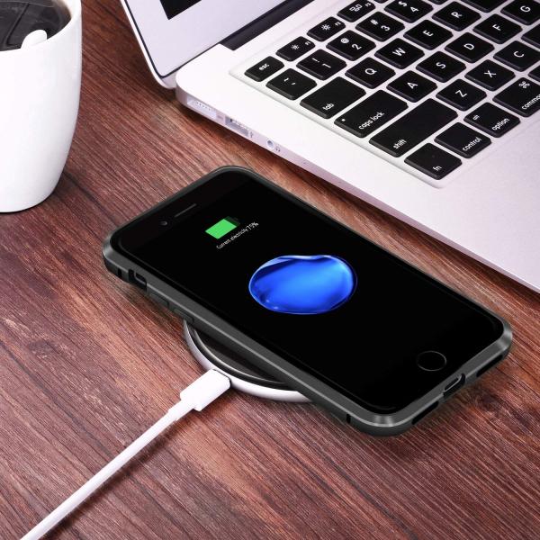 Husa iPhone 8 Magnetic Glass 360 (sticla fata + spate), Negru 3