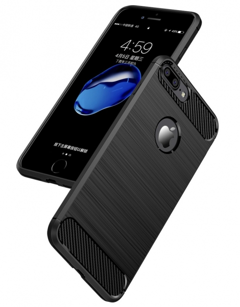 Husa iPhone 7 Plus iPaky Fiber, Negru 1