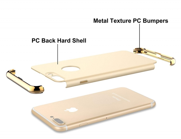 Husa iPhone 7 Plus Joyroom LingPai Series, Gold 3