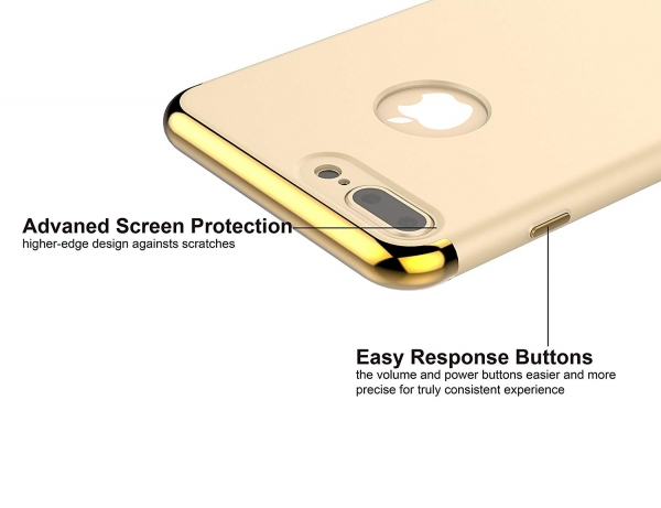 Husa iPhone 7 Plus Joyroom LingPai Series, Gold 2