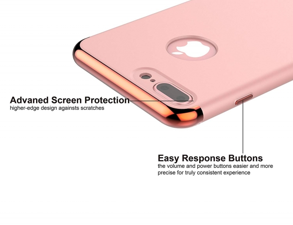 Husa iPhone 7 Plus Joyroom LingPai Series, Rose Gold