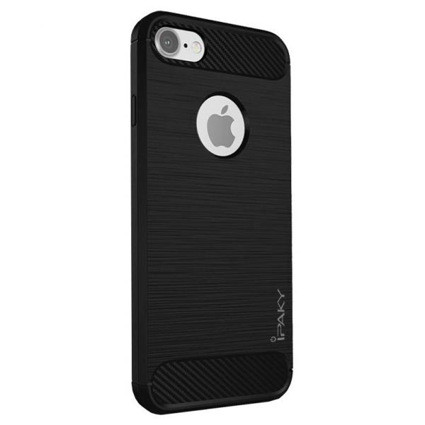 Husa iPhone 8 iPaky Fiber, Negru [0]